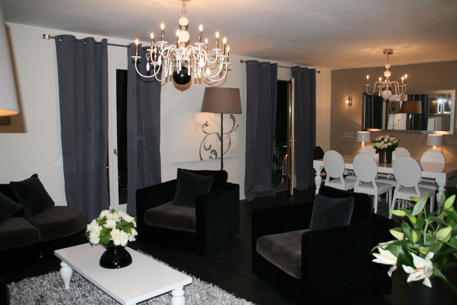 une ambiance romantique avec un luminaire chic evasiondeco. Black Bedroom Furniture Sets. Home Design Ideas